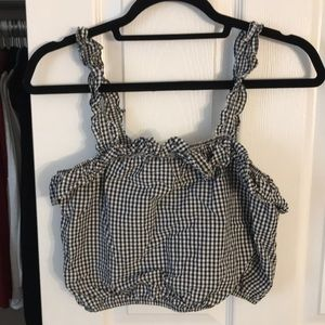Black and white crop top